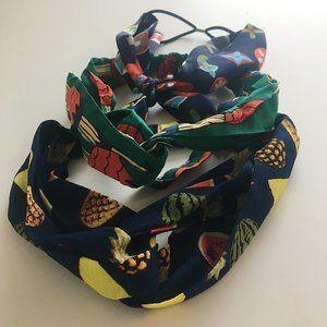 Three Elastic Hairband Wraps